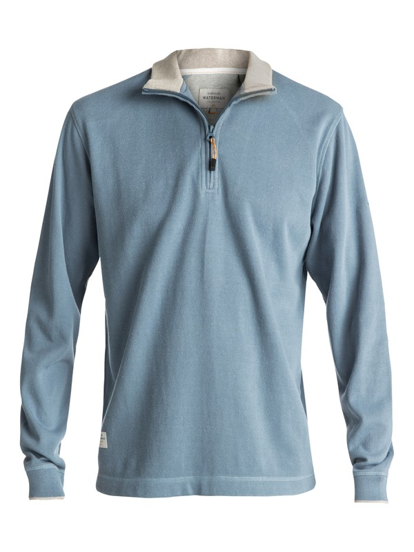 0 Waterman Point Sur Zip Sweatshirt Blue AQMFT03015 Quiksilver
