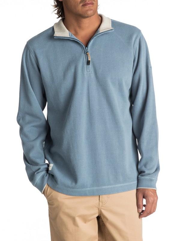 0 Waterman Point Sur Zip Sweatshirt Blue AQMFT03015 Quiksilver