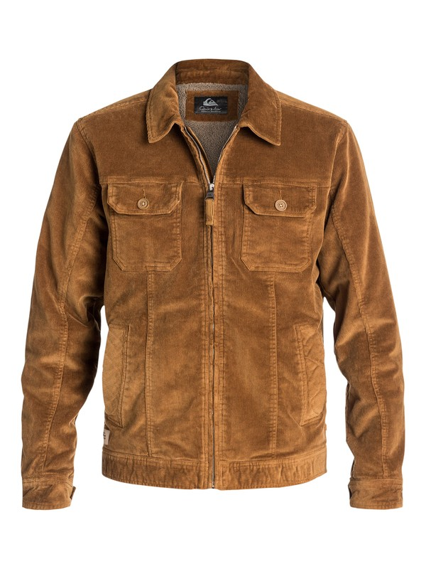 0 Waterman Santa Cruz - Blouson en velour Marron AQMJK03003 Quiksilver