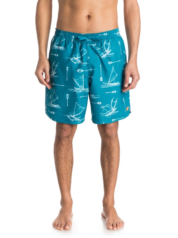 0 Men's Halawa Volley Boardshorts  AQMJV03032 Quiksilver