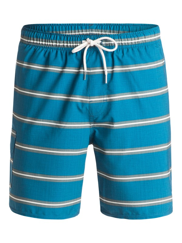 "0 Waterman Parker 18"" Volley Boardshorts Blue AQMJV03054 Quiksilver"