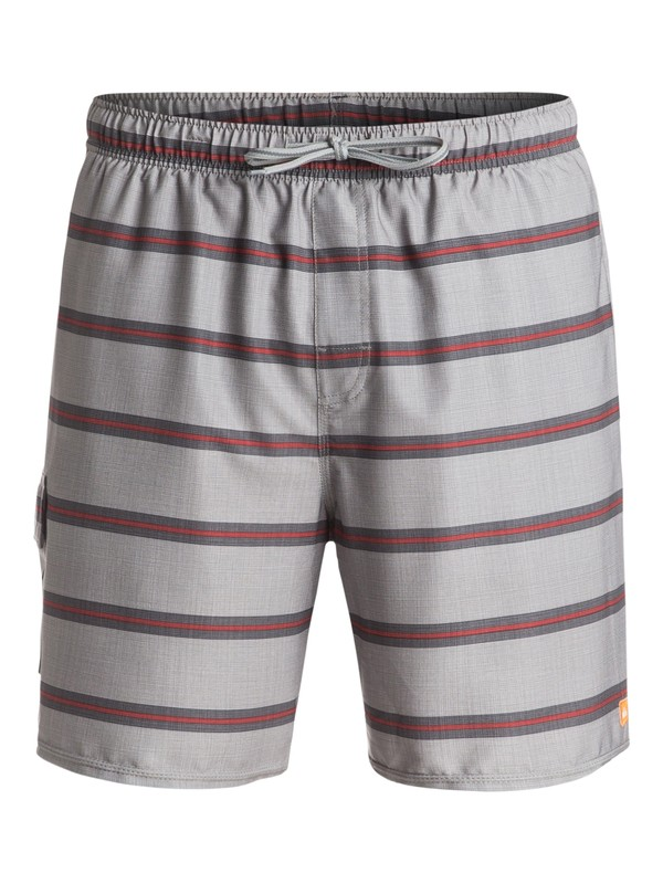 "0 Waterman Parker 18"" Volley Boardshorts Grey AQMJV03054 Quiksilver"