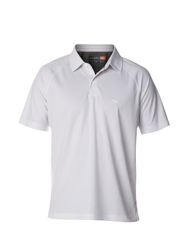 0 Men's Torrent Polo Shirt White AQMKT03000 Quiksilver