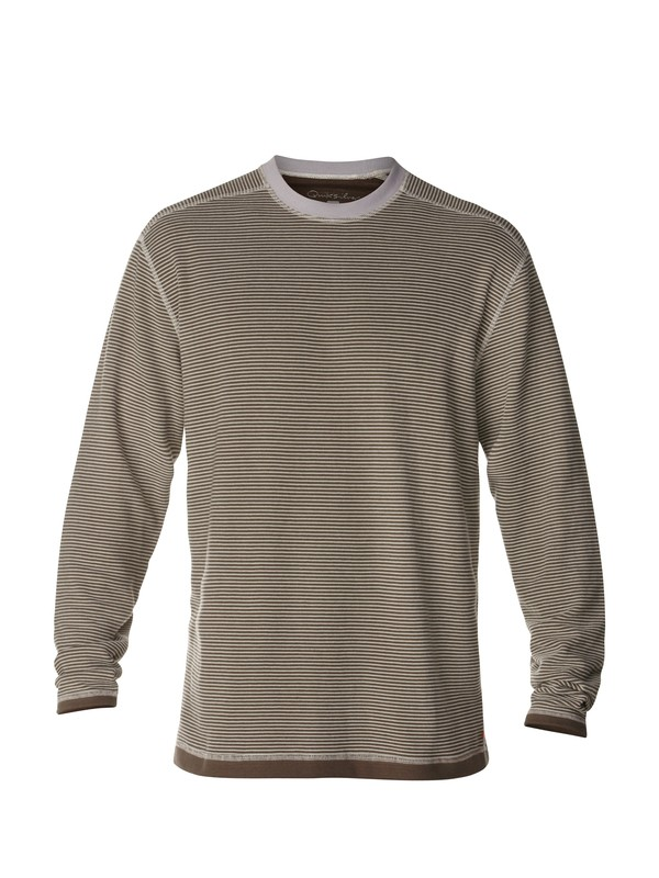 0 Men's Back Bay 2 Long Sleeve T-Shirt  AQMKT03007 Quiksilver