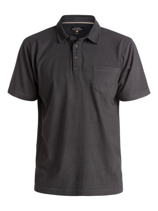 0 Waterman Strolo Polo Shirt Black AQMKT03023 Quiksilver