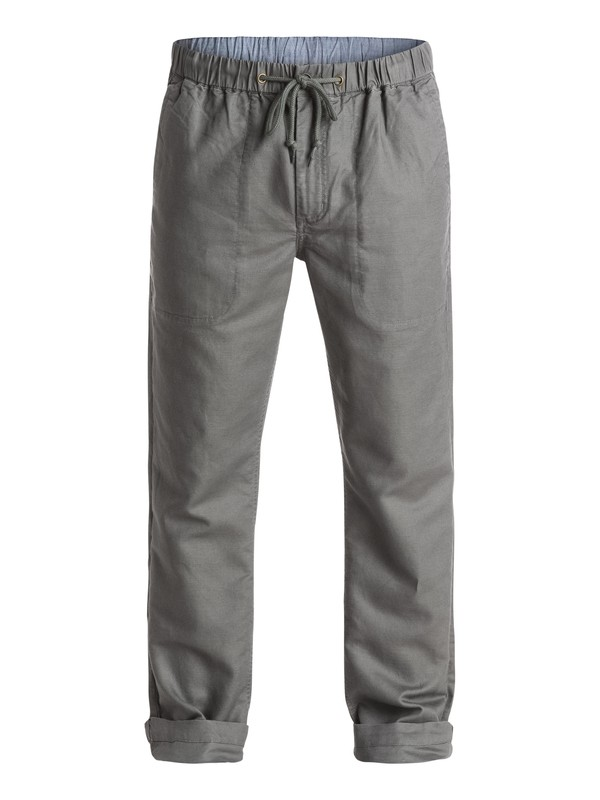 0 Waterman Antigua Linen Pants Grey AQMNP03007 Quiksilver