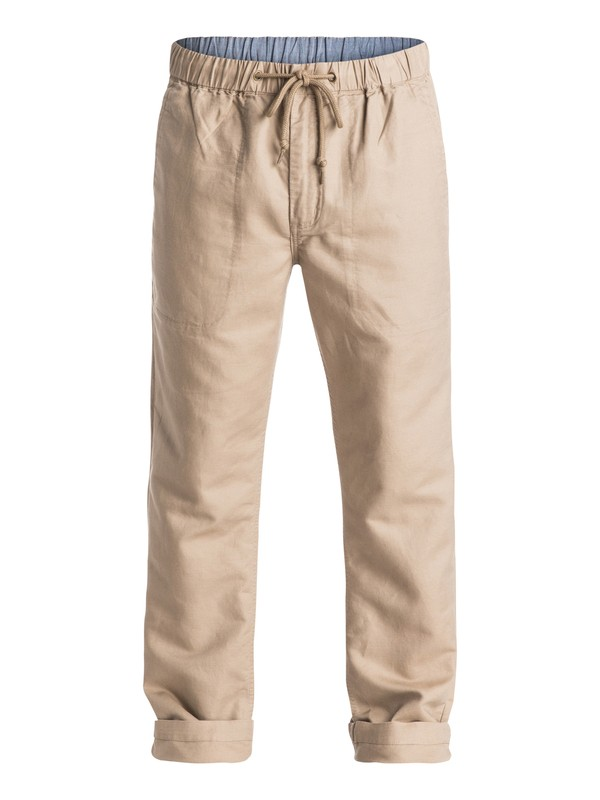 0 Waterman Antigua Linen Pants Beige AQMNP03007 Quiksilver