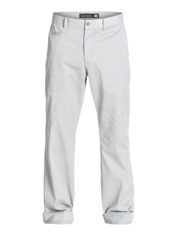 0 Men's Brizzie Long Chino Pants Grey AQMNP03009 Quiksilver