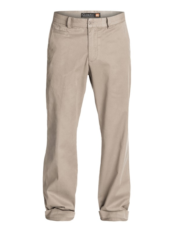 0 Men's Brizzie Long Chino Pants Beige AQMNP03009 Quiksilver
