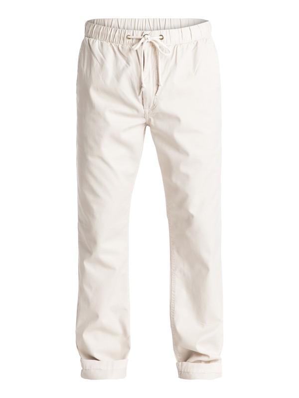 0 Waterman Coastal Chino Pants Beige AQMNP03013 Quiksilver