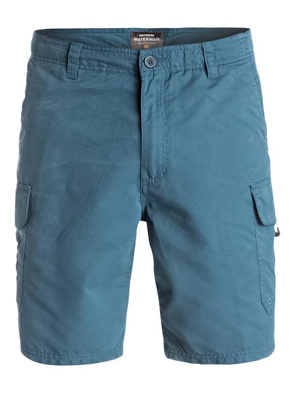 "0 Waterman Maldive 20"" Cargo Shorts Blue AQMWS03043 Quiksilver"