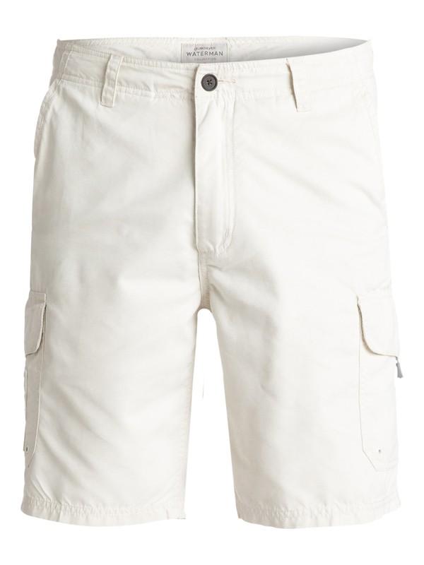 "0 Waterman Maldive 20"" Cargo Shorts White AQMWS03043 Quiksilver"