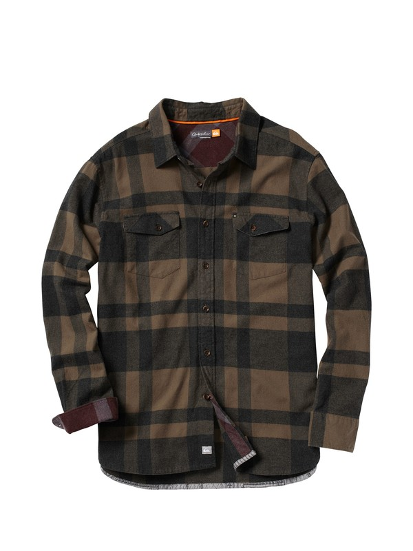 0 Men's Beacon Point Long Sleeve Flannel Shirt  AQMWT00022 Quiksilver