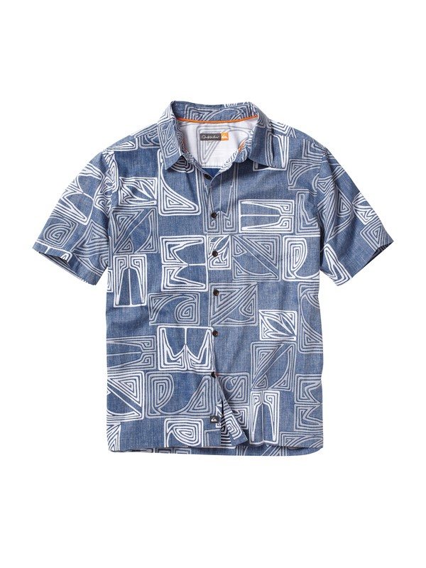 0 Men's Kahutara Short Sleeve Shirt  AQMWT00027 Quiksilver