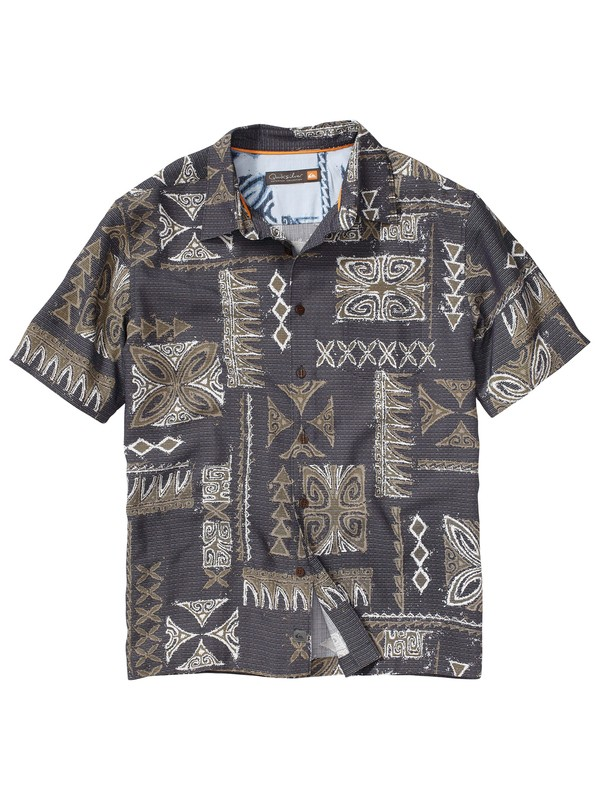 0 Men's La Poloma Short Sleeve Shirt  AQMWT00060 Quiksilver