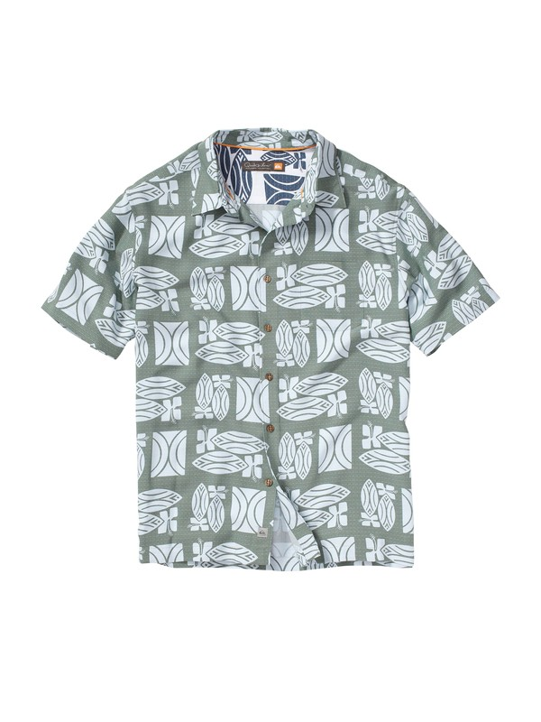 0 Men's Lahaina Short Sleeve Shirt  AQMWT00062 Quiksilver