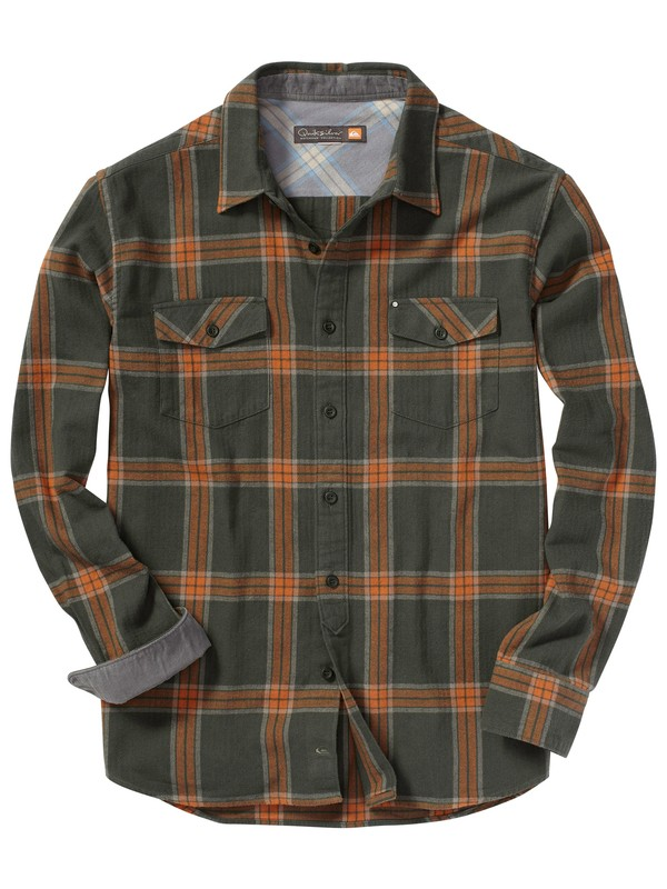 0 Men's Lincoln Bay Long Sleeve Flannel Shirt  AQMWT00064 Quiksilver