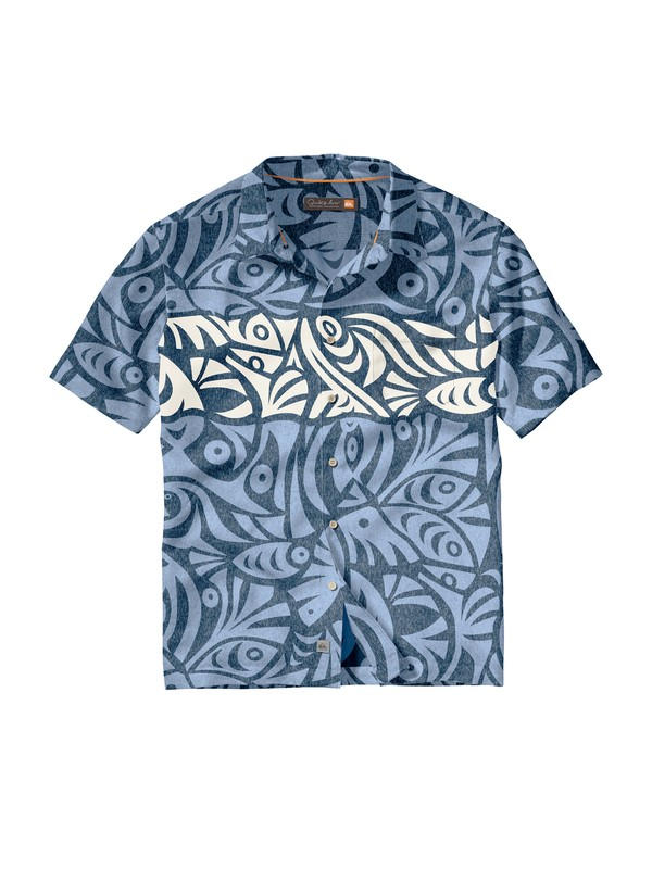 0 Men's Popoyo Short Sleeve Shirt  AQMWT00070 Quiksilver