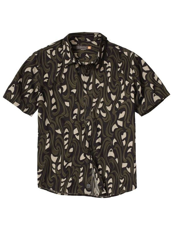 0 Men's The Wharf Short Sleeve Shirt  AQMWT00074 Quiksilver