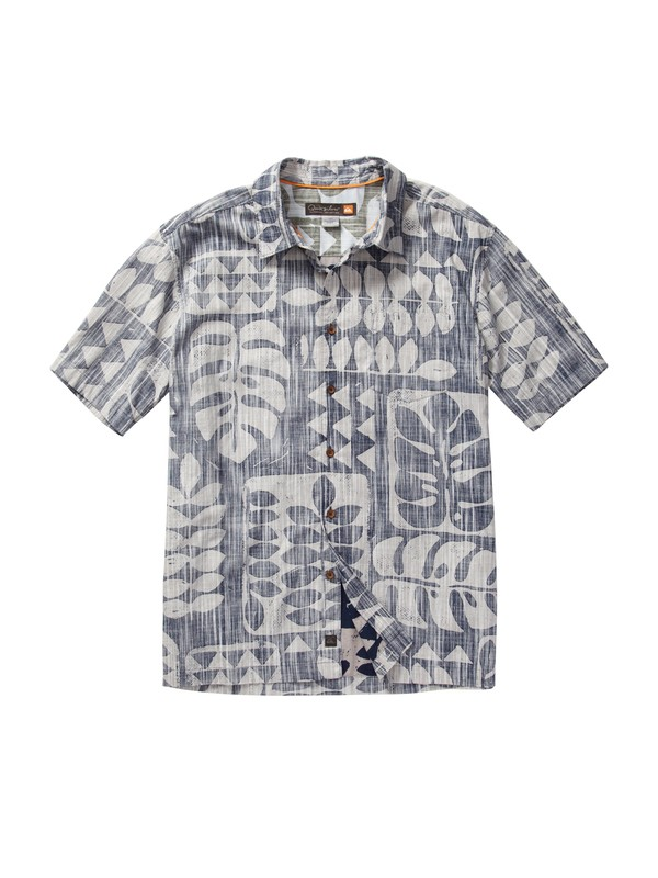 0 Men's Pua Tree Short Sleeve Shirt  AQMWT00091 Quiksilver