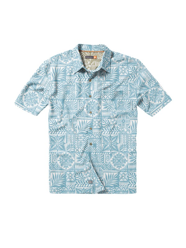 0 Men's Island Life Short Sleeve Shirt  AQMWT00130 Quiksilver