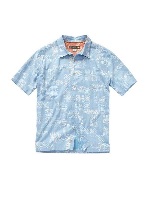0 Men's Tiki Tapa Short Sleeve Shirt  AQMWT00139 Quiksilver