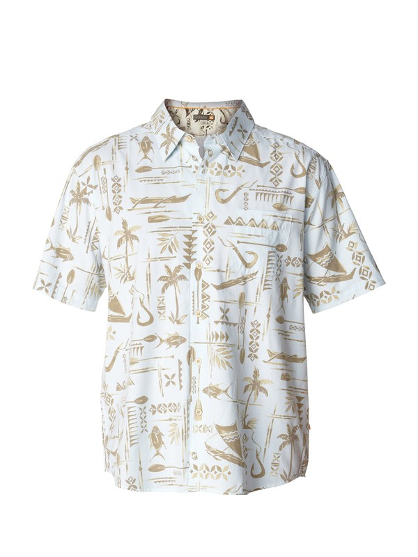 0 Men's Long Weekend Short Sleeve Shirt  AQMWT00140 Quiksilver