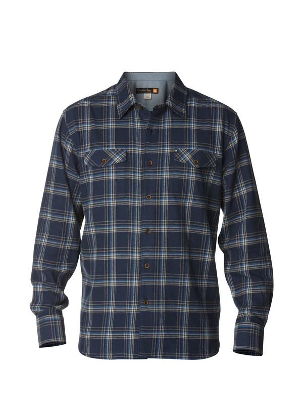 0 Men's Northern Pike Long Sleeve Flannel Shirt  AQMWT00142 Quiksilver