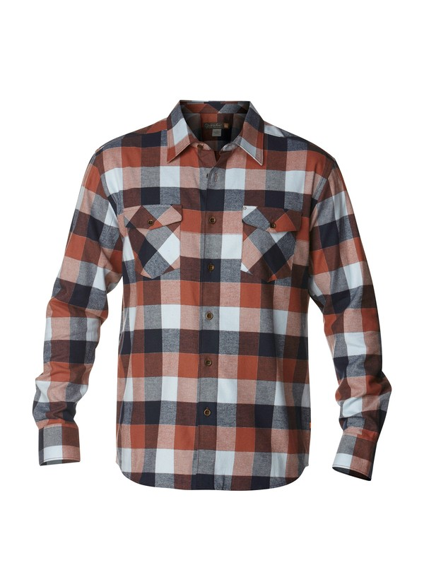 0 Men's Aikens Lake Long Sleeve Flannel Shirt  AQMWT00143 Quiksilver