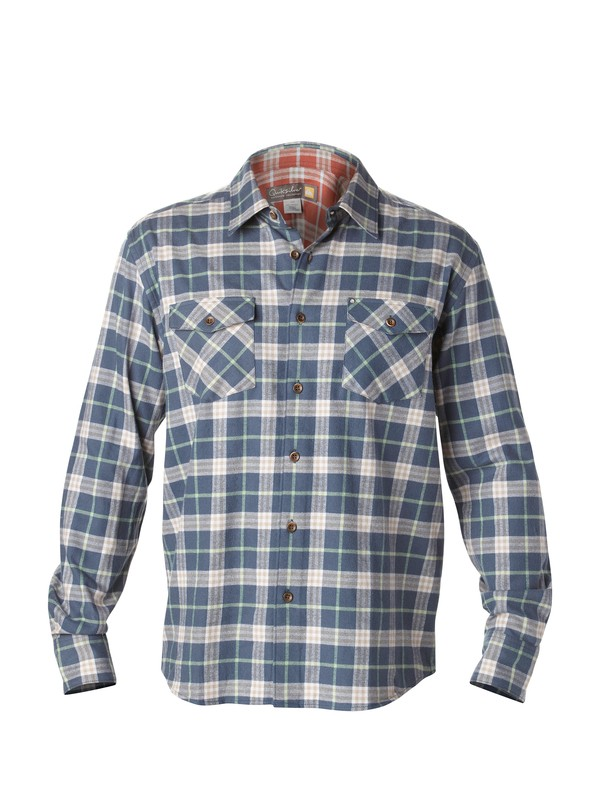 0 Men's Turner Island Long Sleeve Flannel Shirt  AQMWT00144 Quiksilver