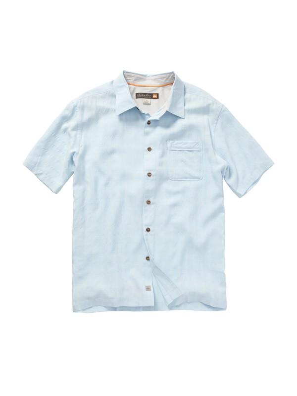 0 Men's White Cliff Short Sleeve Shirt  AQMWT00145 Quiksilver