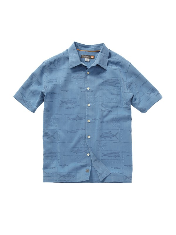 0 Men's La Playa Short Sleeve Shirt  AQMWT00150 Quiksilver