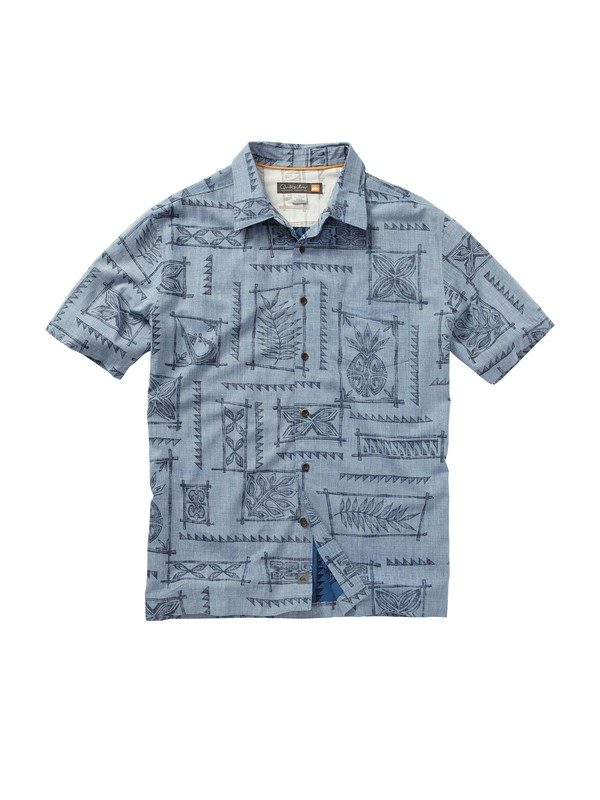 0 Men's Olomana Short Sleeve Shirt  AQMWT00151 Quiksilver