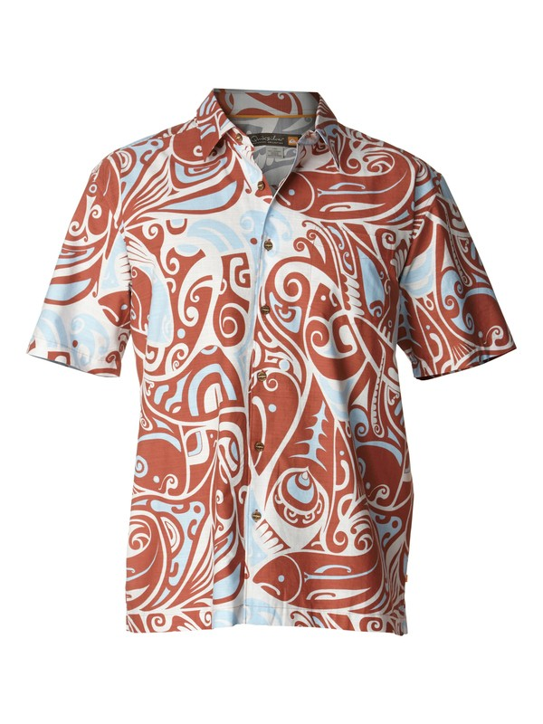 0 Men's Deep Water Bay Short Sleeve Shirt  AQMWT00154 Quiksilver