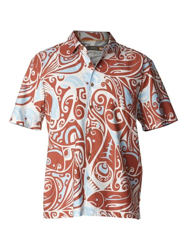 0 Men's Deep Water Bay Short Sleeve Shirt  AQMWT00154 Quiksilver