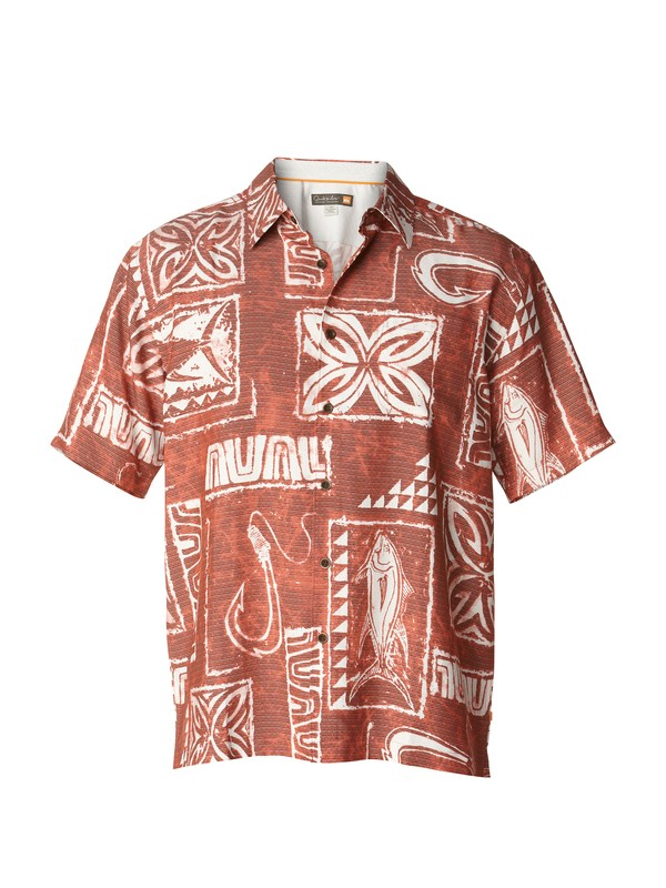 0 Men's Ilio Point Short Sleeve Shirt  AQMWT00155 Quiksilver