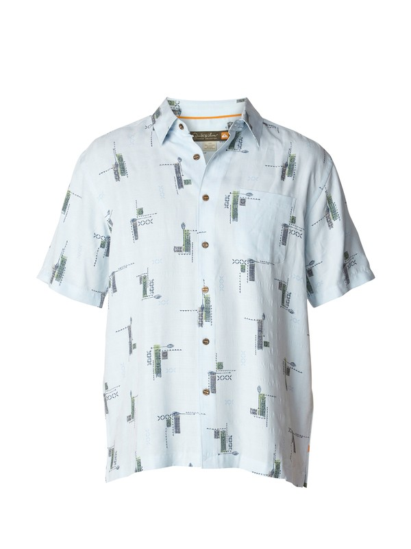 0 Men's Manu Point Short Sleeve Shirt  AQMWT03001 Quiksilver