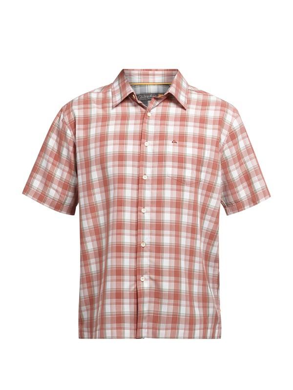 0 Men's Makai Point Short Sleeve Shirt  AQMWT03006 Quiksilver