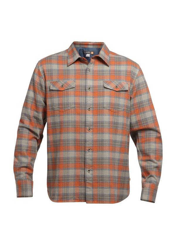 0 Men's Rock Creek Flannel Long Sleeve Shirt  AQMWT03013 Quiksilver
