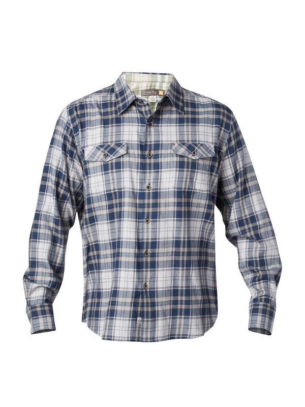 0 Men's Ponderosa Flannel Long Sleeve Shirt  AQMWT03014 Quiksilver