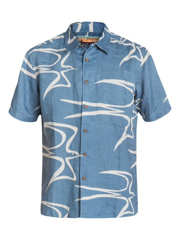 0 Men's Shore Birds Short Sleeve Shirt  AQMWT03022 Quiksilver