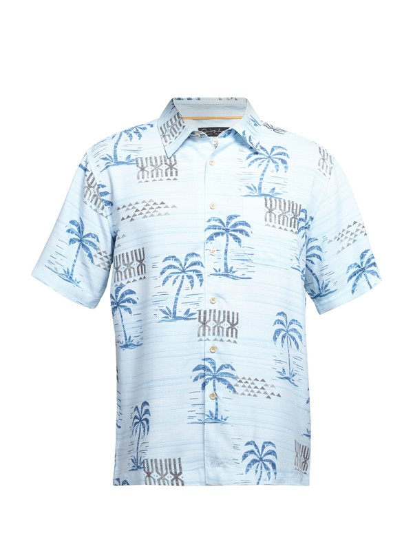 0 Men's Waipio Cove Short Sleeve Shirt  AQMWT03027 Quiksilver