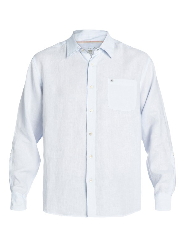 0 Men's Burgess Bay Long Sleeve Linen Shirt  AQMWT03040 Quiksilver