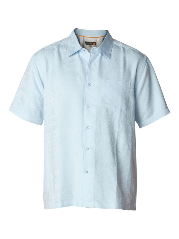 0 Men's Aganoa Bay Short Sleeve Shirt  AQMWT03042 Quiksilver