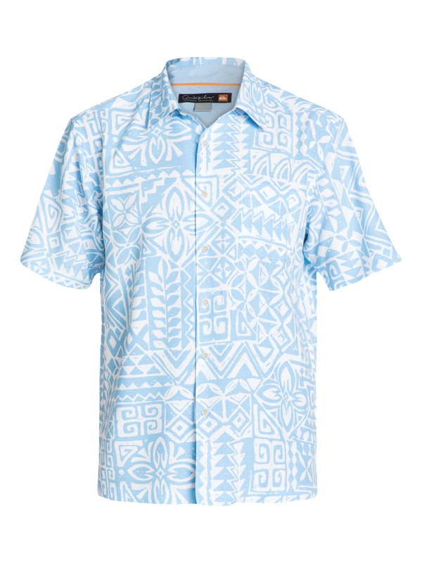 0 Men's Bells Beach Short Sleeve Shirt  AQMWT03053 Quiksilver