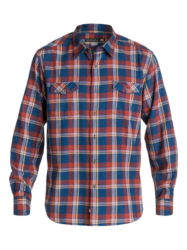 0 Men's Forest Beach Long Sleeve Flannel Shirt  AQMWT03101 Quiksilver
