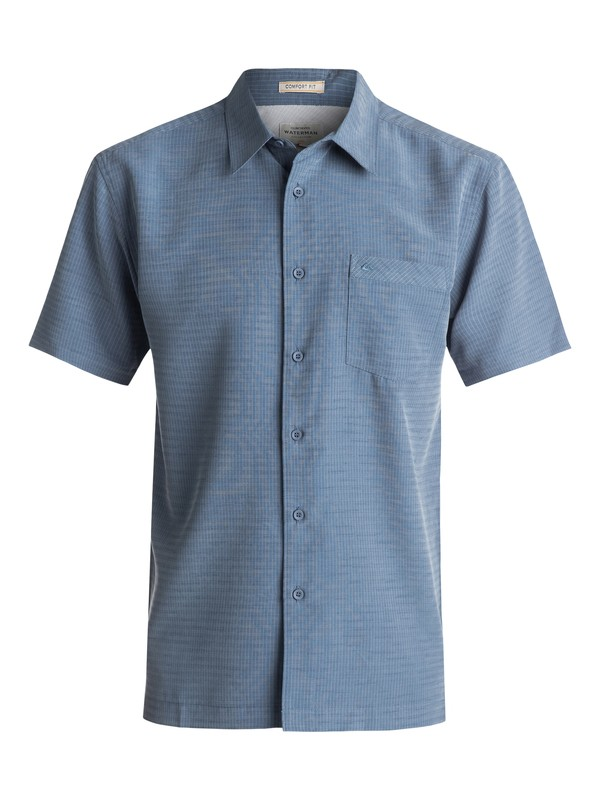 0 Waterman Centinela Short Sleeve Shirt Blue AQMWT03106 Quiksilver