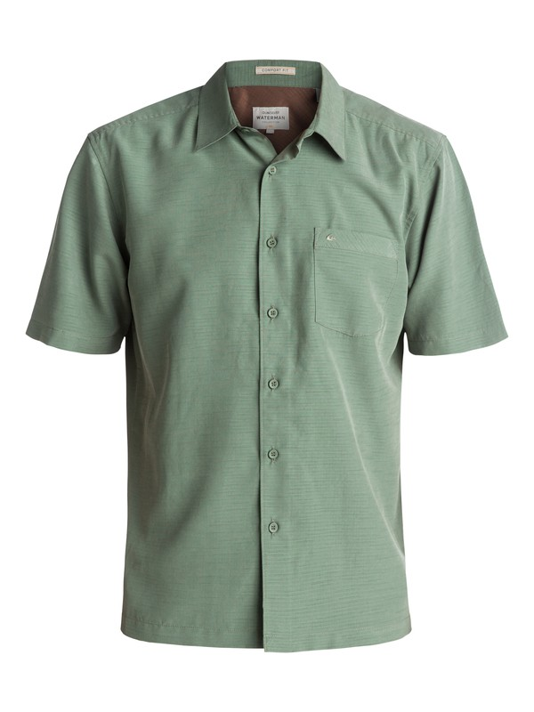 0 Waterman Centinela Short Sleeve Shirt Green AQMWT03106 Quiksilver