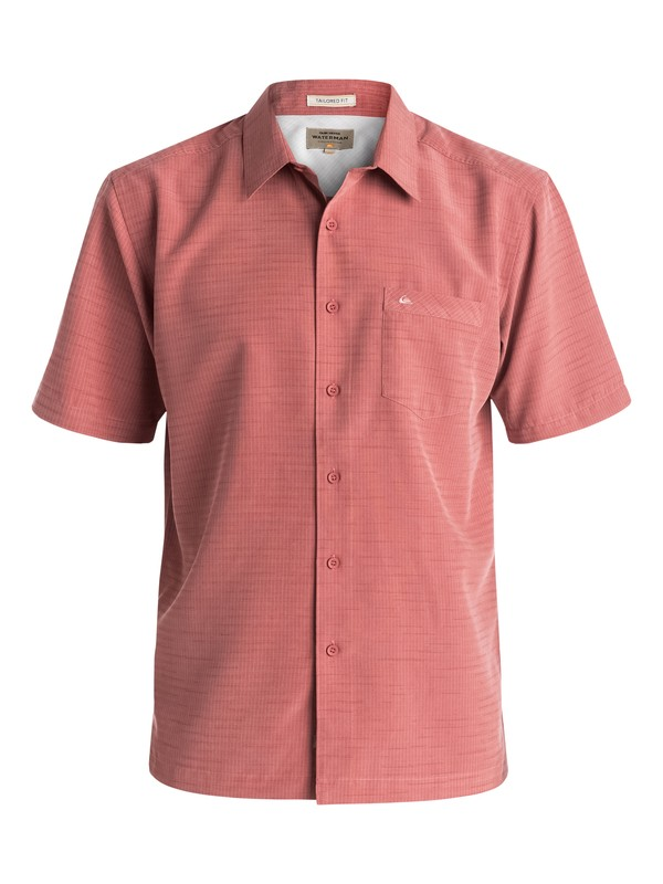 0 Waterman Centinela Short Sleeve Shirt Pink AQMWT03106 Quiksilver