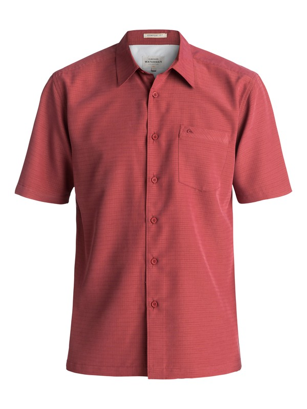 0 Waterman Centinela Short Sleeve Shirt Red AQMWT03106 Quiksilver